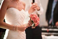 Hochzeitsblumenstrauß an einer Hochzeit lizenzfreie stockfotos