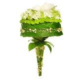 Hochzeitsblumenstrauß getrennt auf Weiß. Stockfotos