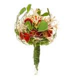 Hochzeitsblumenstrauß getrennt auf Weiß. Stockbild