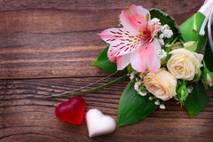 Hochzeitsblumenstrauß, Hintergrund Lizenzfreie Stockbilder
