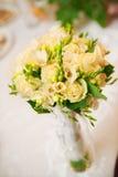 Hochzeitsblumenstrauß im Gelb Stockbilder