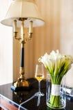 Hochzeitsblumenstrauß im Vase Stockfotos