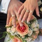 Hochzeitsblumenstrauß mit Blumen Lizenzfreies Stockbild