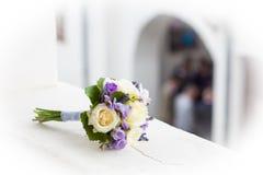 Hochzeitsblumenstrauß mit gelben Rosen Stockbilder