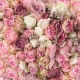 Hochzeitsblumenstrauß mit Rosenbusch Stockfotos
