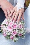 Hochzeitsblumenstrauß von den zarten Rosen Lizenzfreies Stockbild