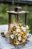 Hochzeitsblumenstrauß von trockenen Blumen Lizenzfreies Stockbild