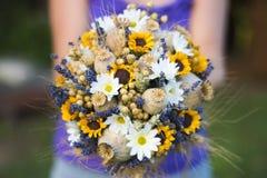 Hochzeitsblumenstrauß von trockenen Blumen Lizenzfreie Stockbilder