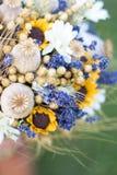 Hochzeitsblumenstrauß von trockenen Blumen Stockbilder