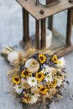 Hochzeitsblumenstrauß von trockenen Blumen Stockfoto