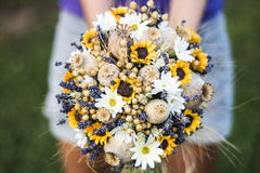 Hochzeitsblumenstrauß von trockenen Blumen Lizenzfreie Stockfotografie