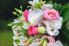 Hochzeitsblumenstraußblumen Lizenzfreie Stockfotografie