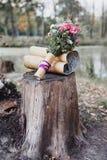 Hochzeitsblumenstraußdetails Stockfotos
