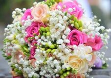 Hochzeitsblumenstraußnahaufnahme Stockfoto