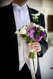 Hochzeitsblumenstrauß-Blumenanordnung Stockbilder