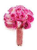 Hochzeitsblumenstrauß von den Rosen für die Braut lokalisiert auf weißem backgroun Lizenzfreie Stockfotos