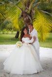 Hochzeitsblumenstrauß von Frangipani Lizenzfreies Stockbild