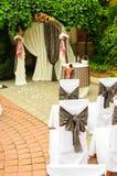 Hochzeitsbogen Stockfoto