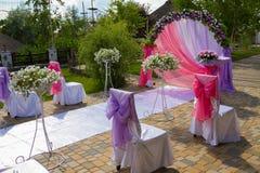 Hochzeitsbogen Stockfotografie