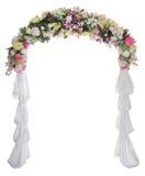 Hochzeitsbogen auf weißem Hintergrund Stockbilder