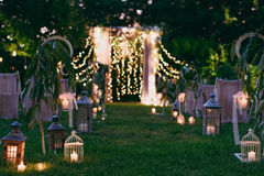 Hochzeitsbogenzeremonien Lizenzfreie Stockfotografie