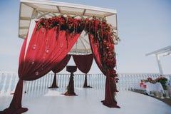 Hochzeitsbogenzeremonien Stockfoto