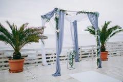 Hochzeitsbogenzeremonien Stockfotografie