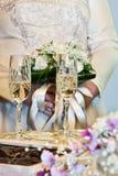 Hochzeitschampagnergläser Lizenzfreies Stockbild