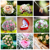 Hochzeitscollage Lizenzfreie Stockfotos