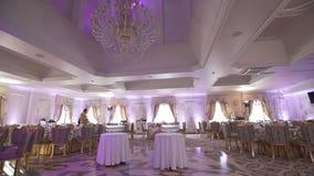 Hochzeitsdekor, Schokoriegel, Dekorationen, Details stock video