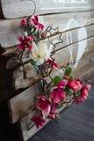Hochzeitsdekor von Blumen Stockfotos