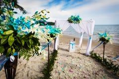 Hochzeitsdekoration in thailändischem stockfotografie