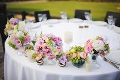 Hochzeitsdekorblumen stockfotografie