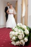 Hochzeitsdetail des Blumenstraußes lizenzfreies stockbild