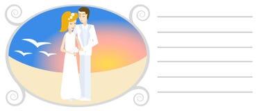 Hochzeitseinladung Stockfotografie