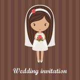 Hochzeitseinladung stock abbildung