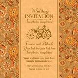 Hochzeitseinladung in der türkischen Ostart, orange Lizenzfreie Stockbilder