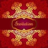 Hochzeitseinladung, empfindliches Strudelmandalamuster Lizenzfreie Stockbilder