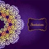 Hochzeitseinladung, empfindliches Strudelmandalamuster Lizenzfreies Stockbild