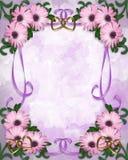 Hochzeitseinladung Gänseblümchen mit Blumen Stockfoto