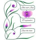 Hochzeitseinladung oder -karte mit Blumenmuster Lizenzfreie Stockfotografie