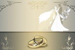 Hochzeitseinladungs-Kartendesign Lizenzfreie Stockfotos