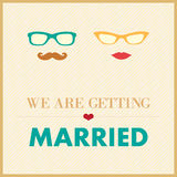 Hochzeitseinladungs-Kartenschablone Lizenzfreie Stockfotos