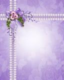 Hochzeitseinladungs-Lavendelgänseblümchen Lizenzfreie Stockfotografie