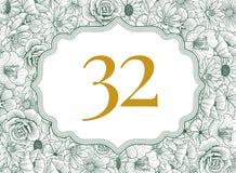 Hochzeitseinladungsdesign Stockfotografie