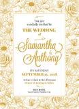 Hochzeitseinladungsdesign Stockbild