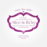 Hochzeitseinladungsdesign Stockbilder