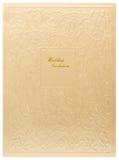 Hochzeitseinladungskarte Stockfotografie