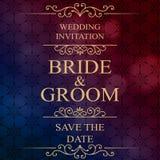 Hochzeitseinladungskarte mit Blumen Lizenzfreies Stockfoto