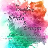 Hochzeitseinladungskarte mit Blumen Stockbild